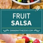 Fruit Salsa Recipe | Dessert Salsa | Cinnamon Sugar Chips | Fruit Recipe #fruit #kiwi #blueberry #strawberry #dip #salsa #dinneratthezoo #dessert #snack