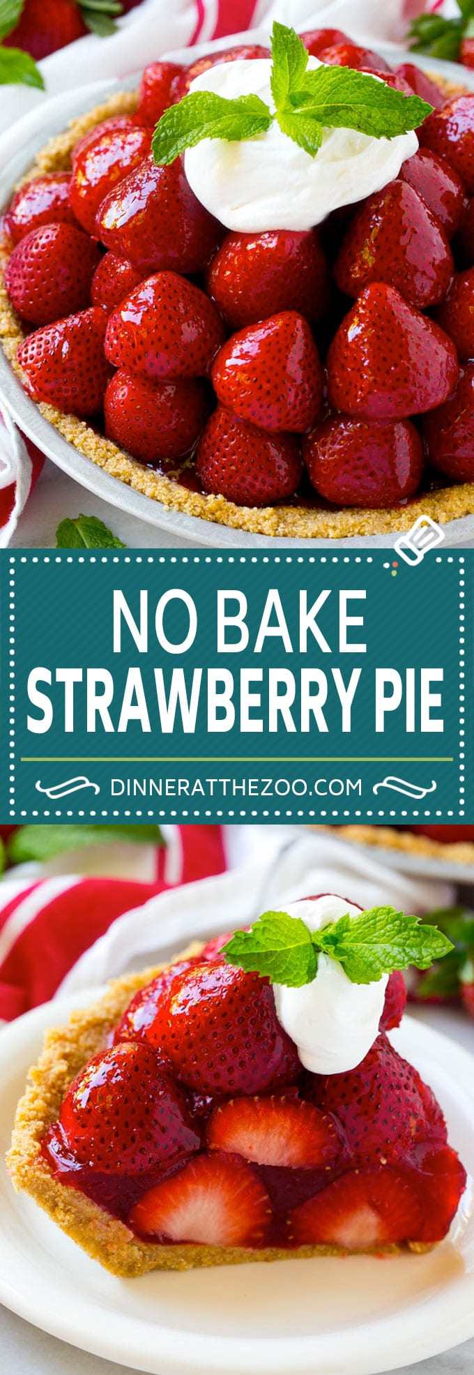 No Bake Strawberry Pie Recipe | Fresh Strawberry Pie | Strawberry Pie Recipe | No Bake Pie Recipe #strawberry #strawberrypie #nobake #nobakepie #dessert #dinneratthezoo #strawberrypie