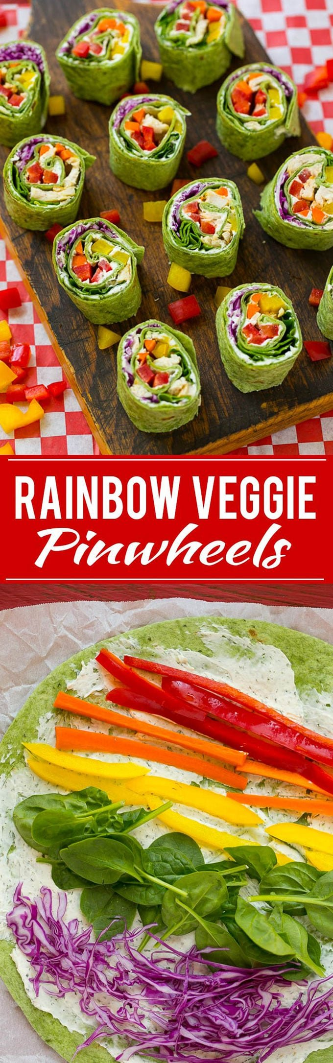Rainbow Veggie Pinwheels Recipe | Veggie Pinwheels | Kids Lunch Recipe | Pinwheel Sandwich Recipe #pinwheels #wraps #sandwich #lunch #dinneratthezoo #veggie