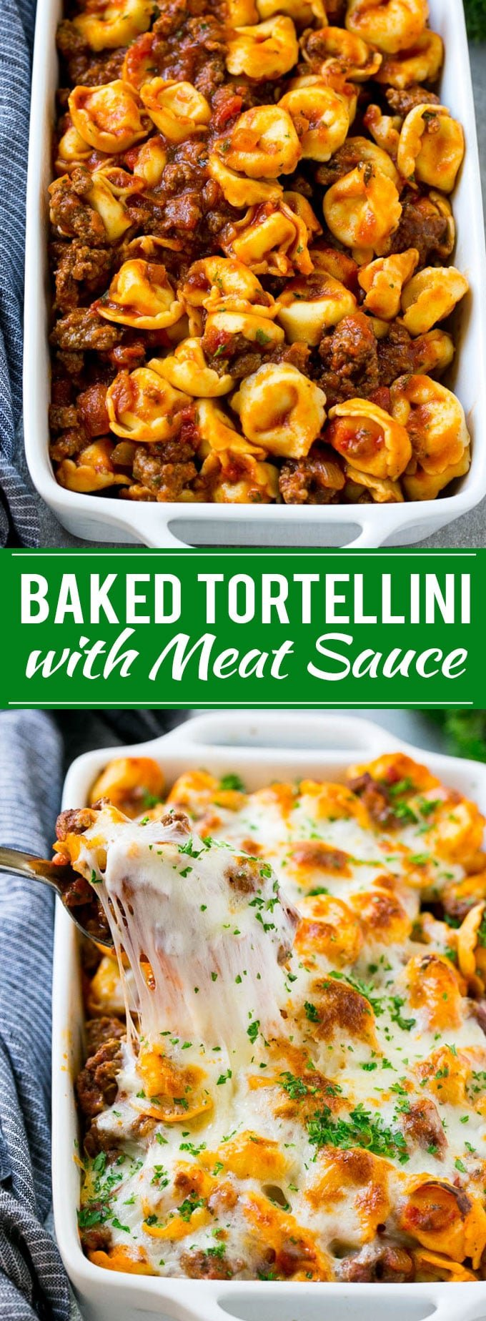 Baked Tortellini with Meat Sauce Recipe | Cheese Tortellini | Tortellini Recipe | Baked Pasta Recipe