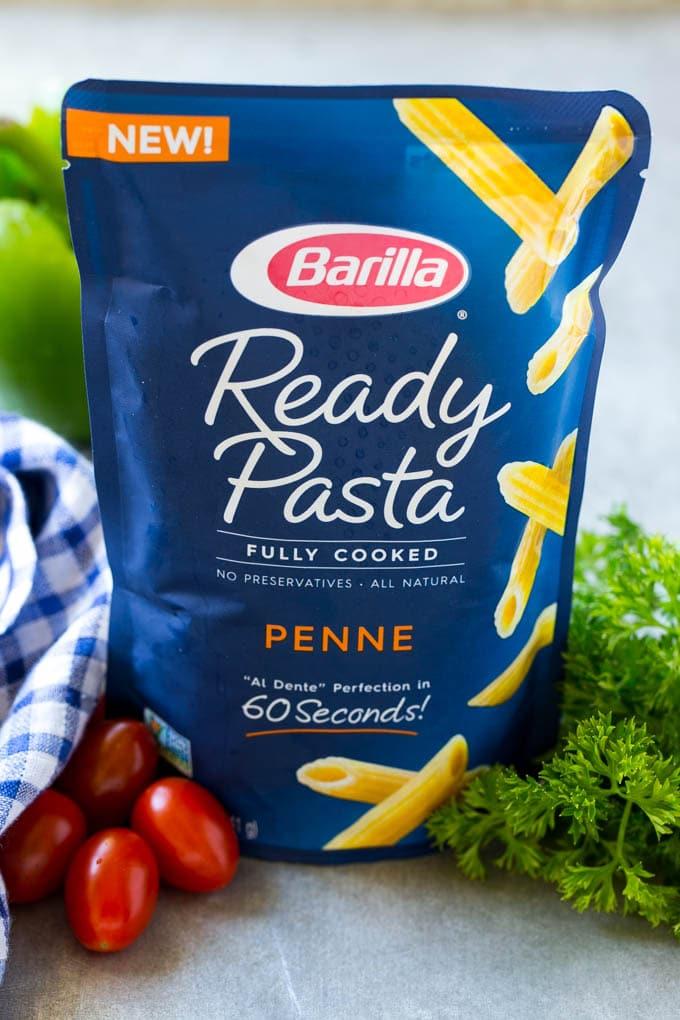 A bag of Barilla Ready Pasta