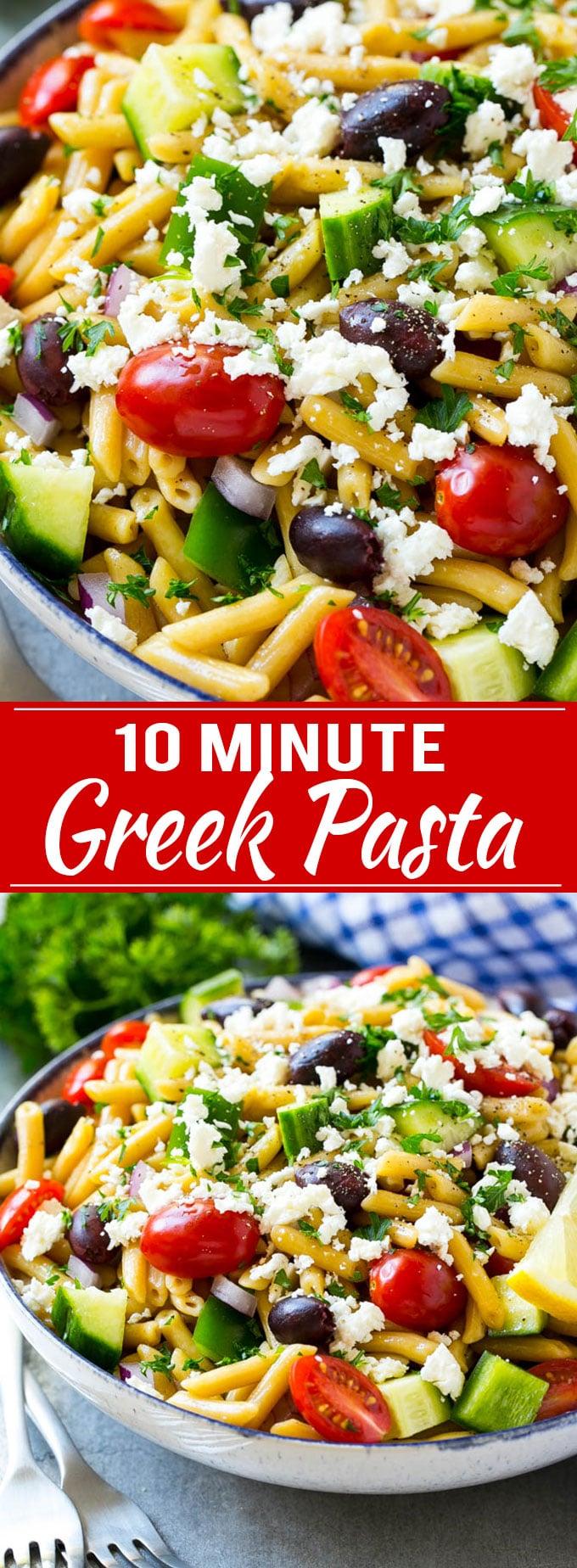 Greek Pasta Recipe   Easy Pasta Recipe   One Pot Pasta Recipe