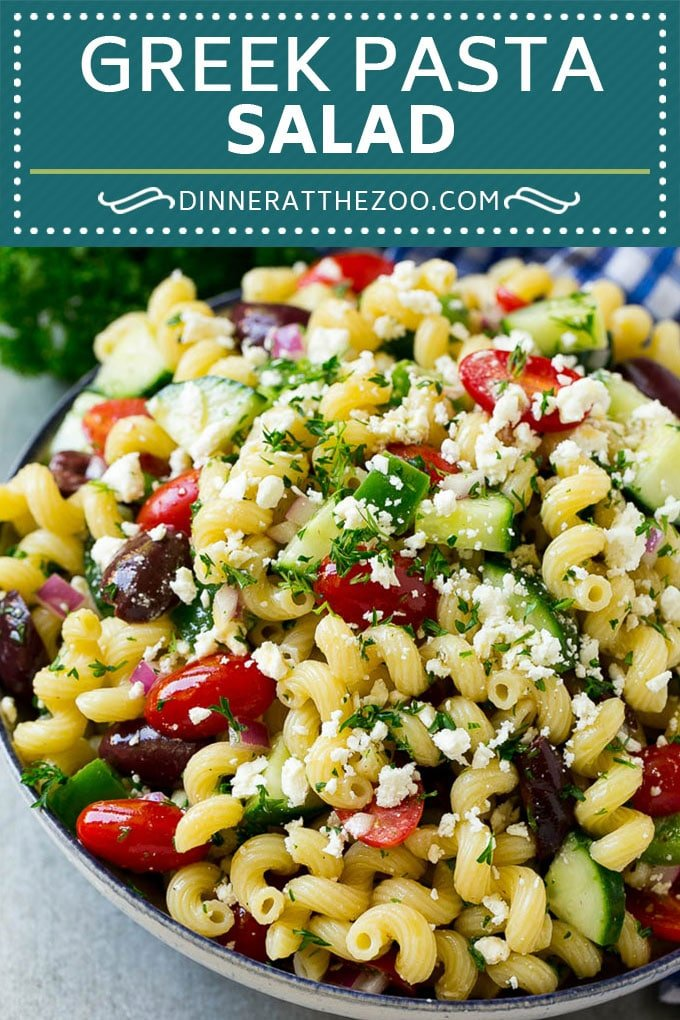 Greek Pasta Salad | Easy Pasta Salad | Vegetable Pasta Salad #pasta #salad #greek #cucumber #tomato #vegetarian #dinner #dinneratthezoo