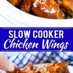 Slow Cooker Barbecue Chicken Wings | Crock Pot Chicken Wings | Barbecue Chicken Wings | Easy Chicken Wings