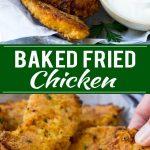 Baked Fried Chicken Recipe | Oven Fried Chicken | Baked Chicken Fingers | Crispy Chicken Fingers