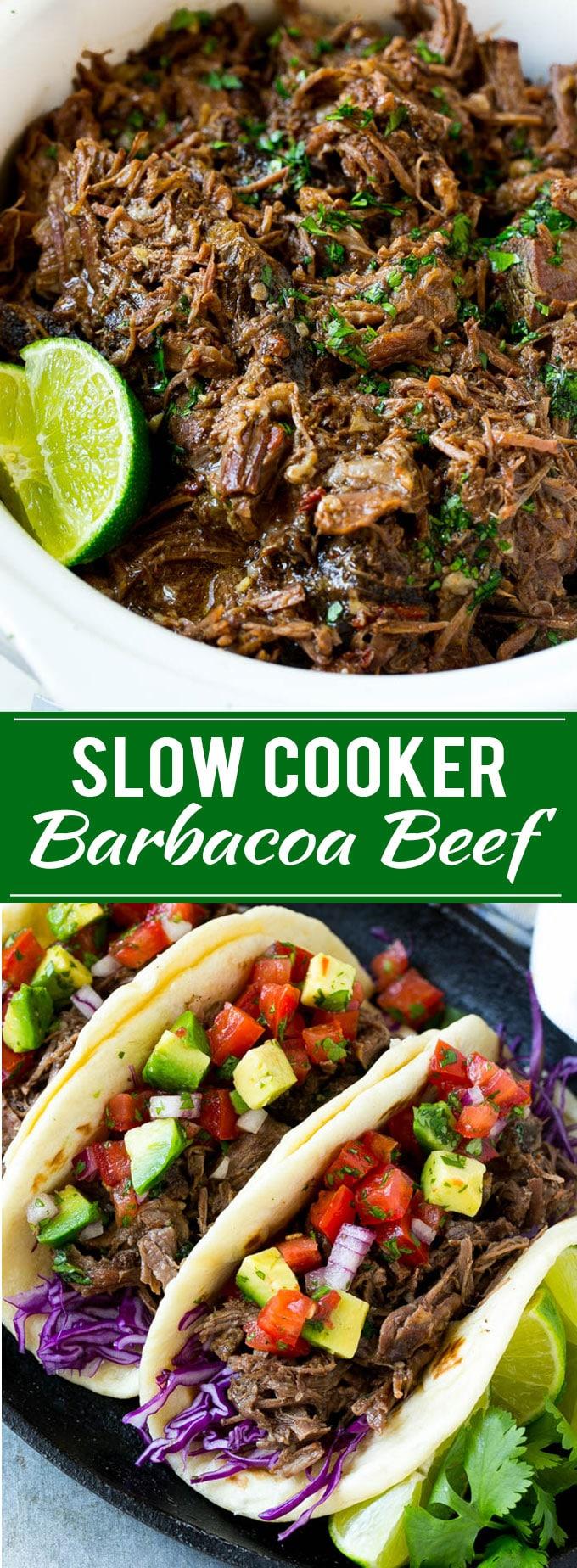 Barbacoa Beef Recipe | Slow Cooker Barbacoa | Chipotle Copycat Recipe | Mexican Beef Recipe