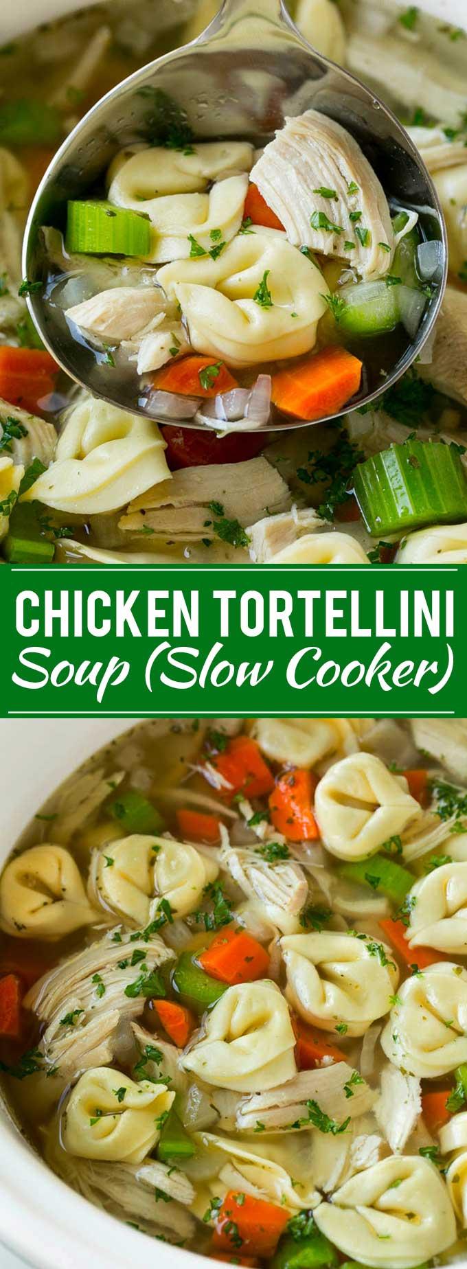 Chicken Tortellini Soup Recipe | Chicken Soup Recipe | Slow Cooker Chicken Soup