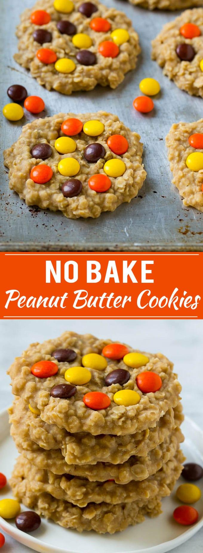 No Bake Peanut Butter Cookies Recipe | No Bake Cookies | Peanut Butter Cookies