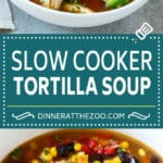 Slow Cooker Chicken Tortilla Soup Recipe | Chicken Soup Recipe | Slow Cooker Chicken Soup | Mexican Chicken Soup | Tortilla Soup Recipe #soup #tortillasoup #chickensoup #mexican #mexicansoup #dinner #dinneratthezoo