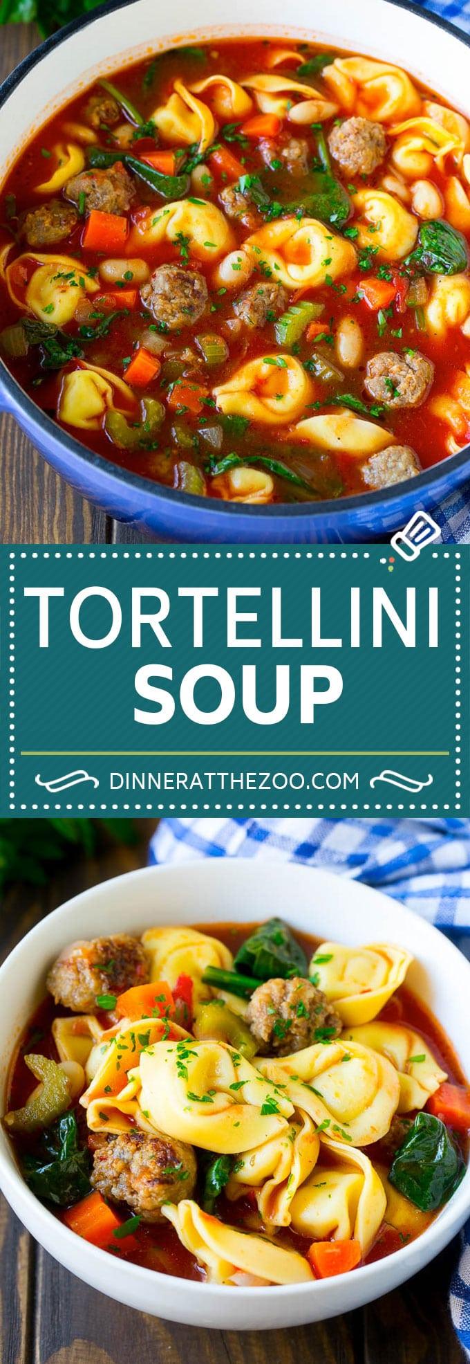 Tortellini Soup Recipe | Sausage Soup | Italian Soup #soup #sausage #pasta #tortellini #dinner #dinneratthezoo