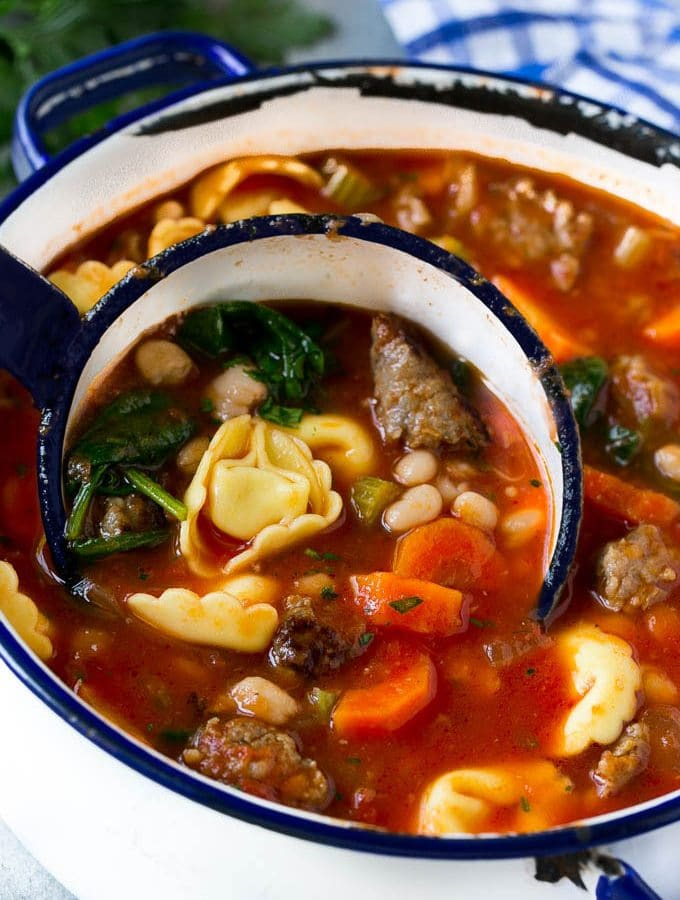 Tortellini Soup with Sausage