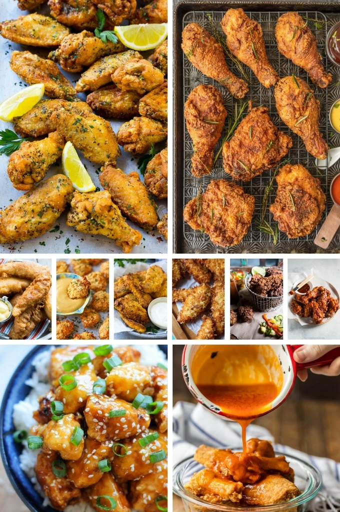 Amazing Fried Chicken Recipes such as coconut chicken, popcorn chicken and chicken crispers.