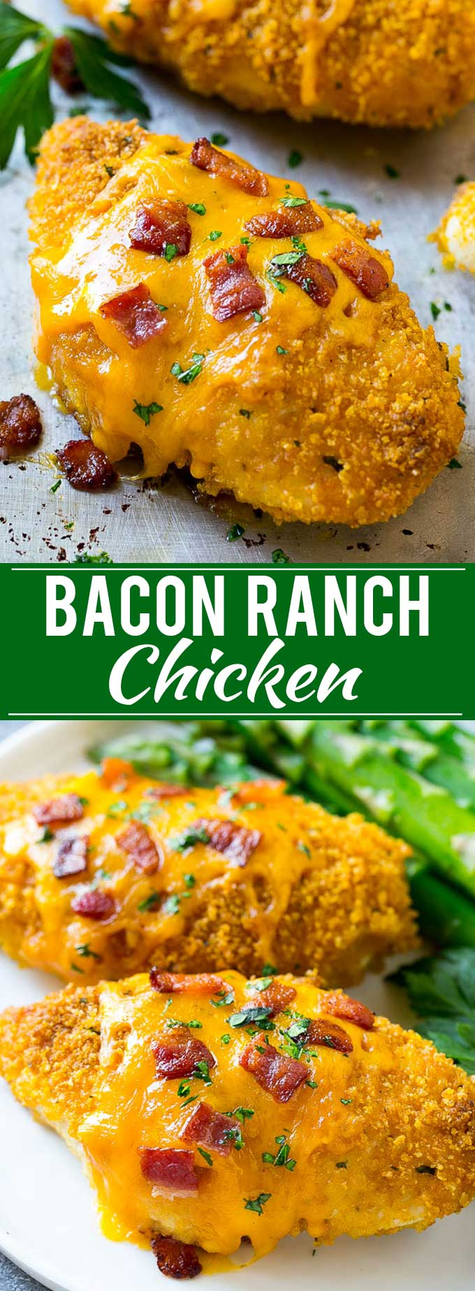 Bacon Ranch Chicken Recipe | Baked Ranch Chicken | Hidden Valley Ranch Chicken | Dry Ranch Dressing Chicken Recipe