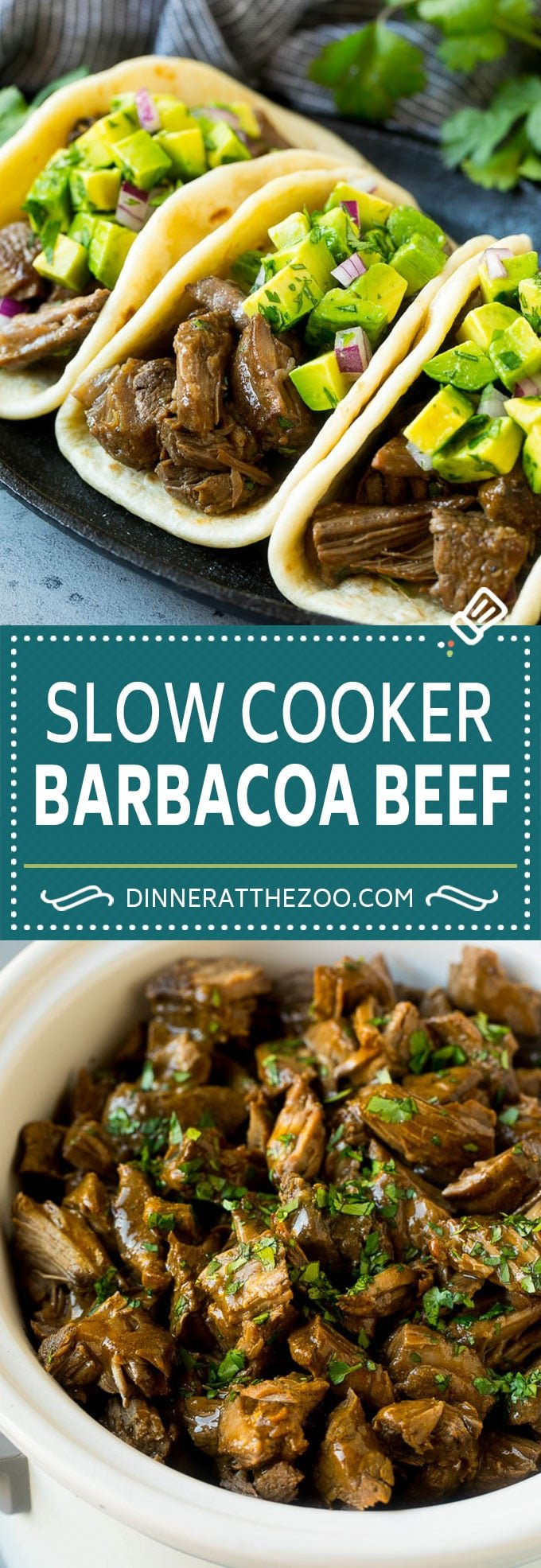 Slow Cooker Barbacoa | Beef Tacos | Crock Pot Beef Tacos #beef #tacos #crockpot #slowcooker #dinner #avocado #dinneratthezoo