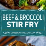 Beef and Broccoli Stir Fry Recipe #beef #broccoli #stirfry #healthy #dinner #dinneratthezoo