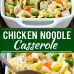 Chicken Noodle Casserole Recipe | Creamy Chicken Casserole | Cream of Chicken Soup Casserole | Noodle Casserole