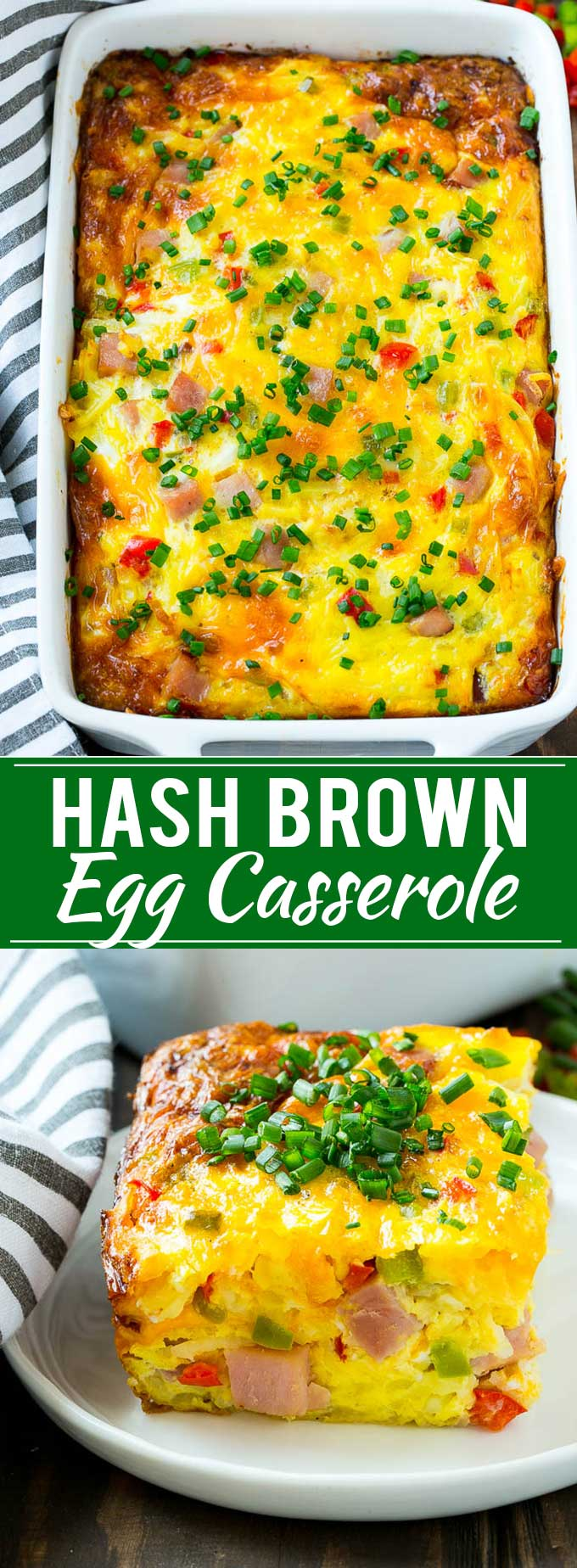 Hash Brown Egg Casserole Recipe | Breakfast Casserole with Ham | Hash Brown Casserole | Ham and Egg Casserole | Egg Casserole with Ham