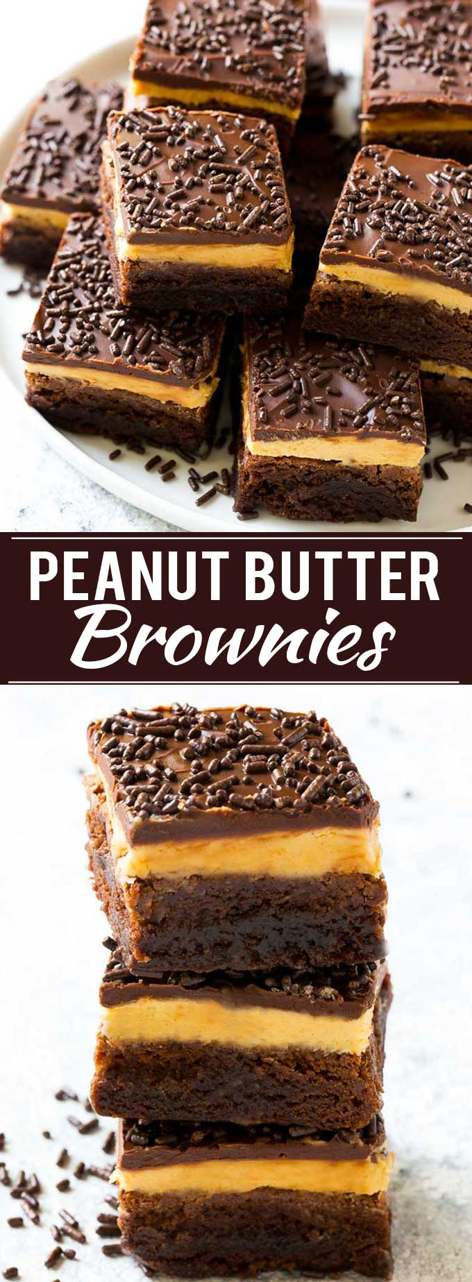 Peanut Butter Brownies Recipe | Layered Brownies | Peanut Butter Truffle Brownies #brownies #chocolate #peanutbutter #dessert #dinneratthezoo