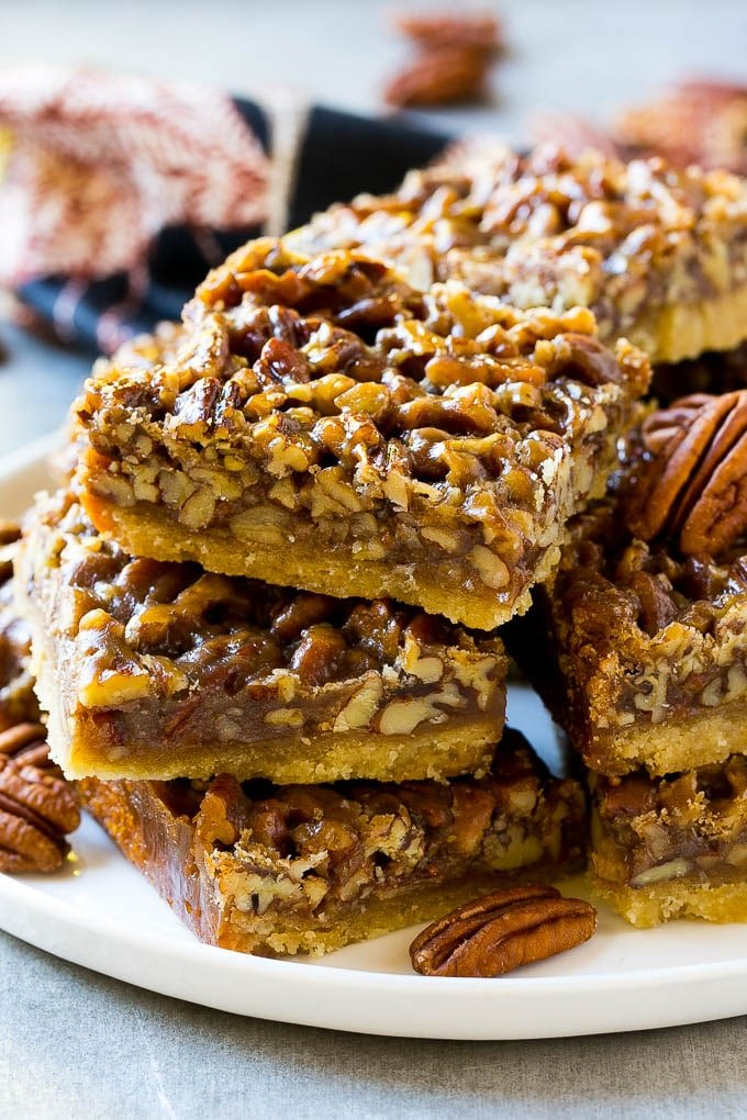 Easy pecan pie bars recipes