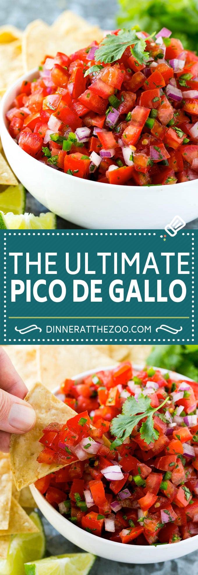 Pico de Gallo Recipe | Homemade Salsa Recipe | Salsa Fresca Recipe #salsa #salsafresca #picodegallo #snack #appetizer #dinneratthezoo