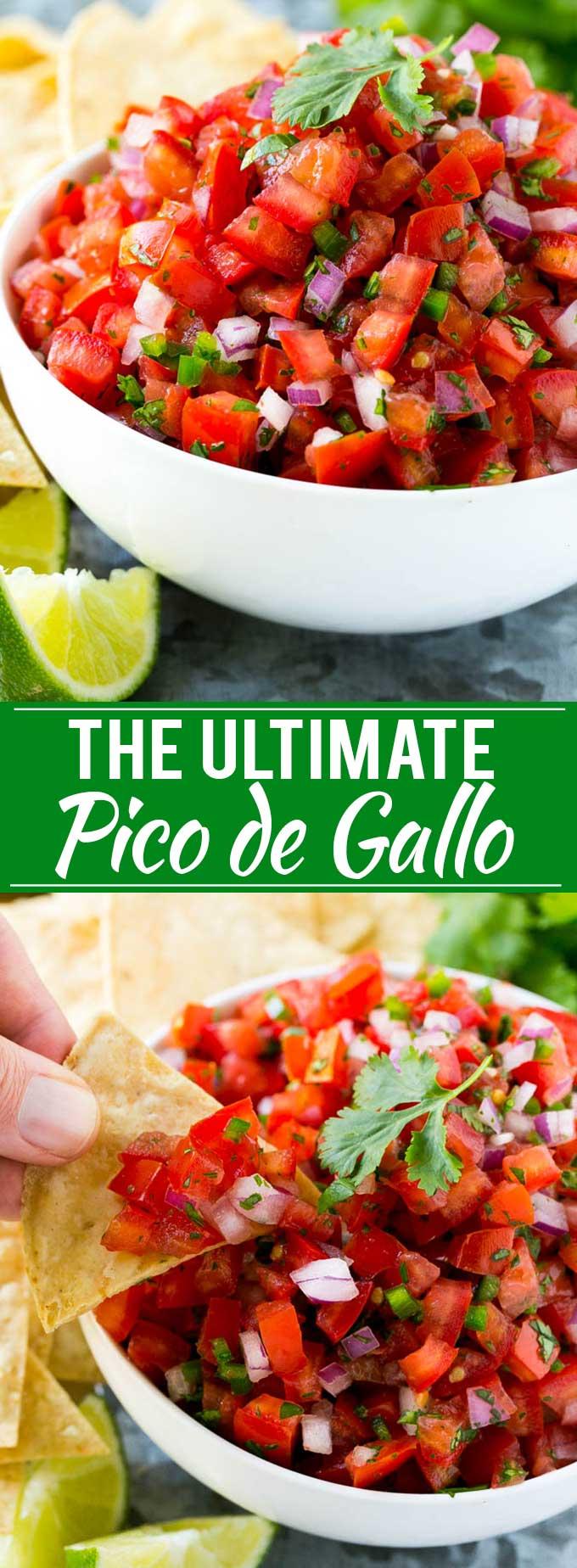 Pico de Gallo Recipe | Homemade Salsa Recipe | Salsa Fresca Recipe
