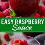 Raspberry Sauce Recipe | Homemade Raspberry Sauce | Raspberry Recipe #raspberries #dessert #dinneratthezoo