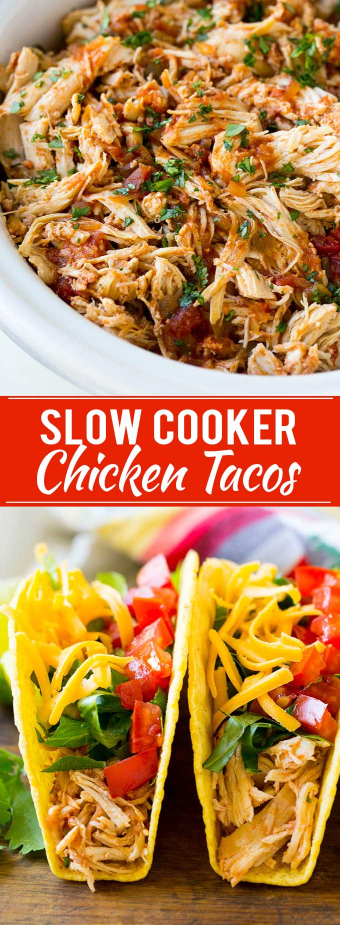 Slow Cooker Chicken Tacos Recipe | Shredded Chicken Tacos | Crispy Chicken Tacos