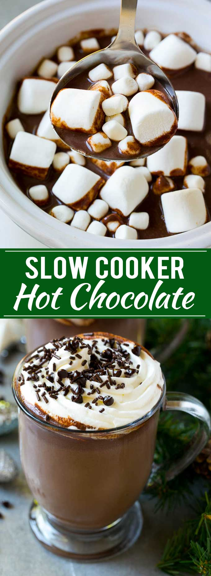 slow cooker hot chocolate cocoa powder