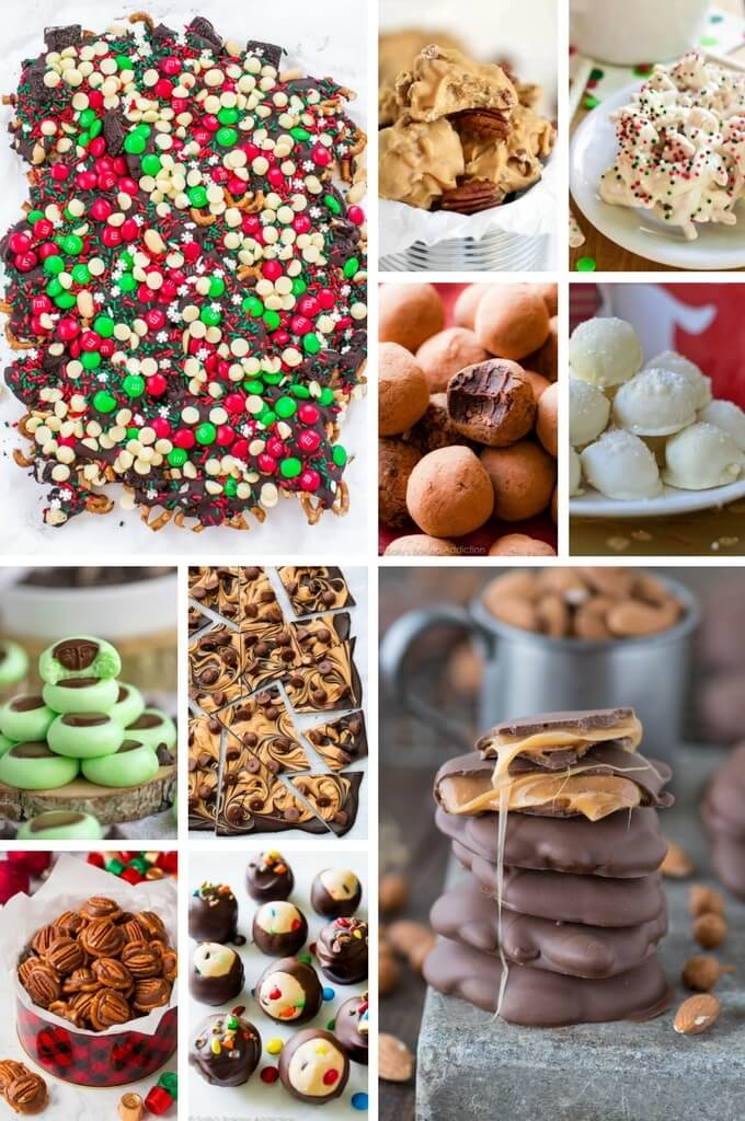christmas candy recipes such as turtles truffles and chocolate bark - Candy Recipes For Christmas