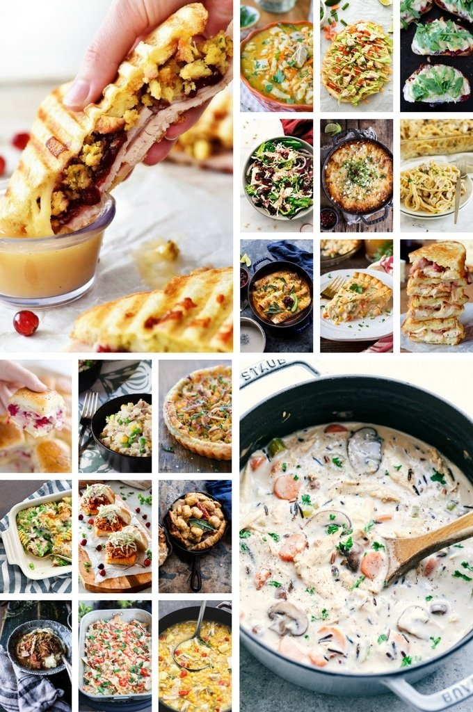 Leftover Turkey Recipes including sandwiches, soup and salads.