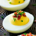These easy bacon deviled eggs are the perfect appetizer for a crowd.