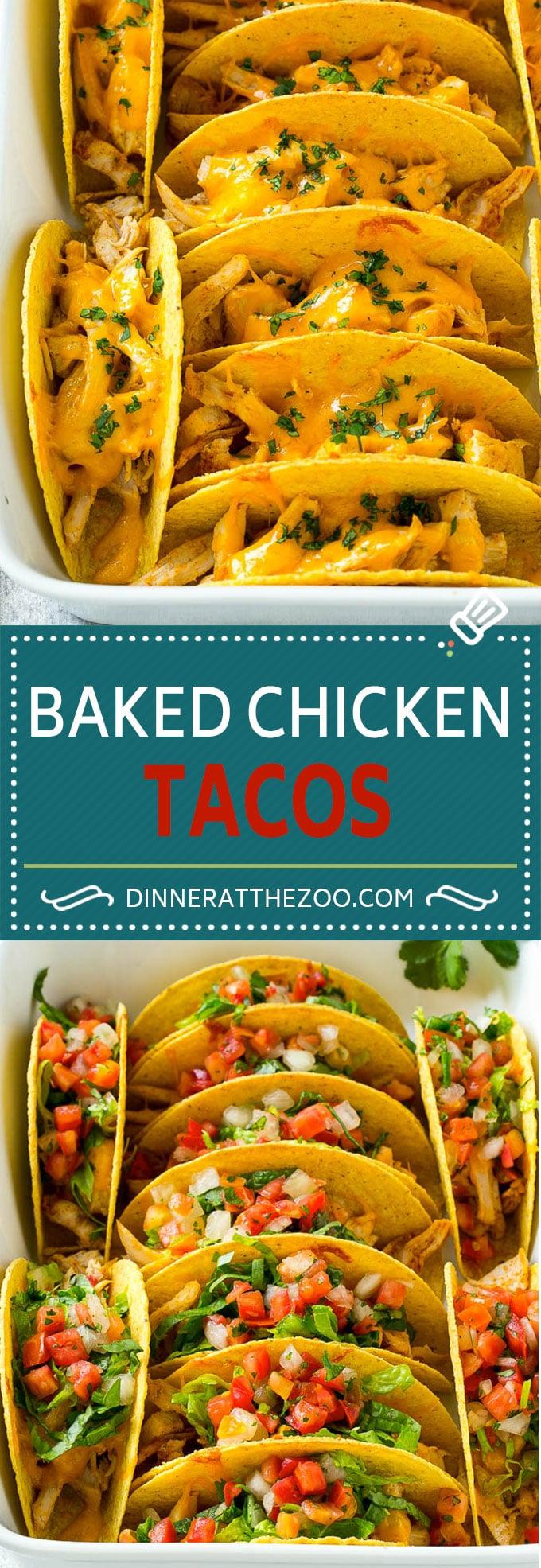 Baked Chicken Tacos   Crispy Chicken Tacos   Easy Taco Recipe