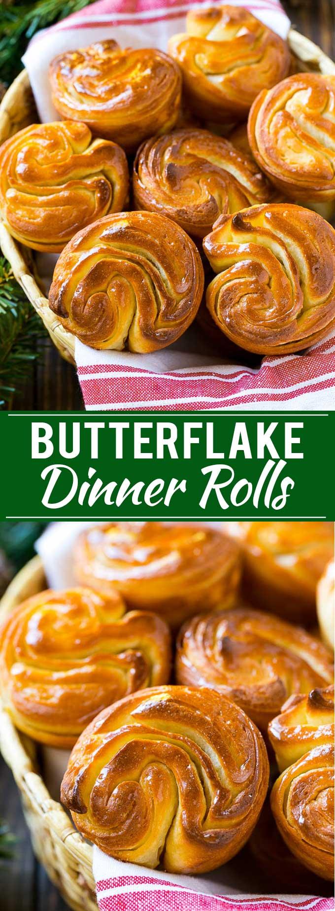 Butterflake Rolls Recipe | Easy Dinner Rolls | Homemade Dinner Rolls | Thanksgiving Rolls