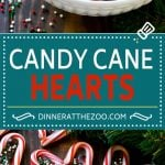Candy Cane Hearts Recipe | Candy Cane Desserts | Candy Cane Treats | Christmas Favors