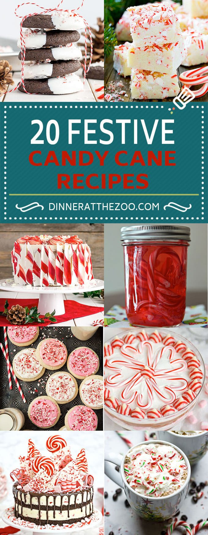 20 Festive Candy Cane Recipes | Christmas Recipes | Holiday Recipes | Peppermint Recipes