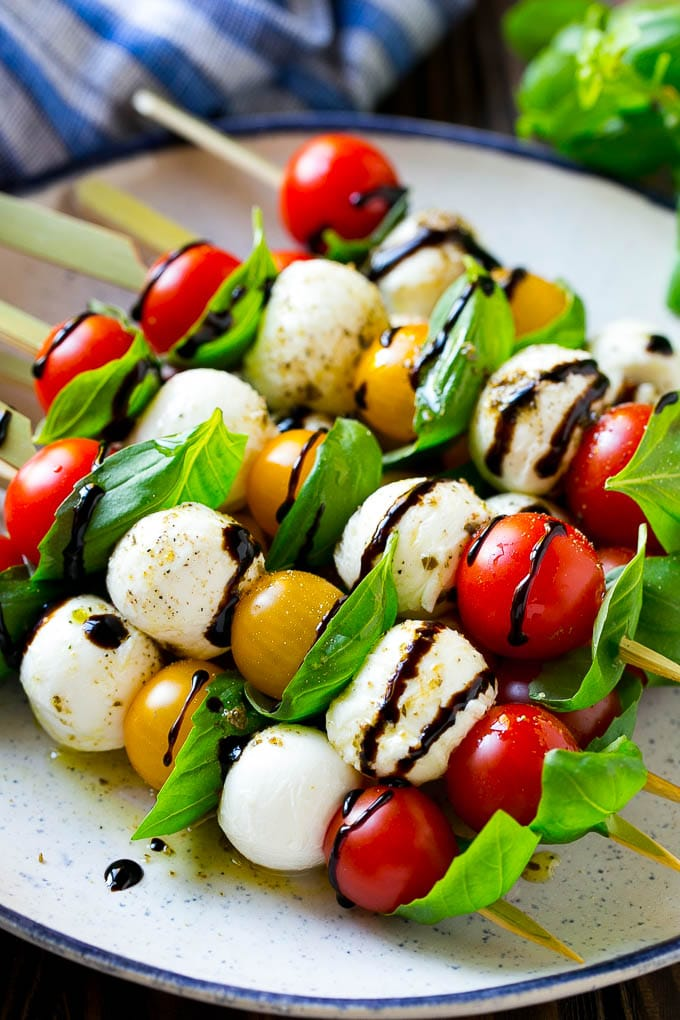 Caprese Skewers are a simple yet impressive appetizer.