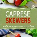 Caprese Skewers | Caprese Kabobs | Caprese Appetizer