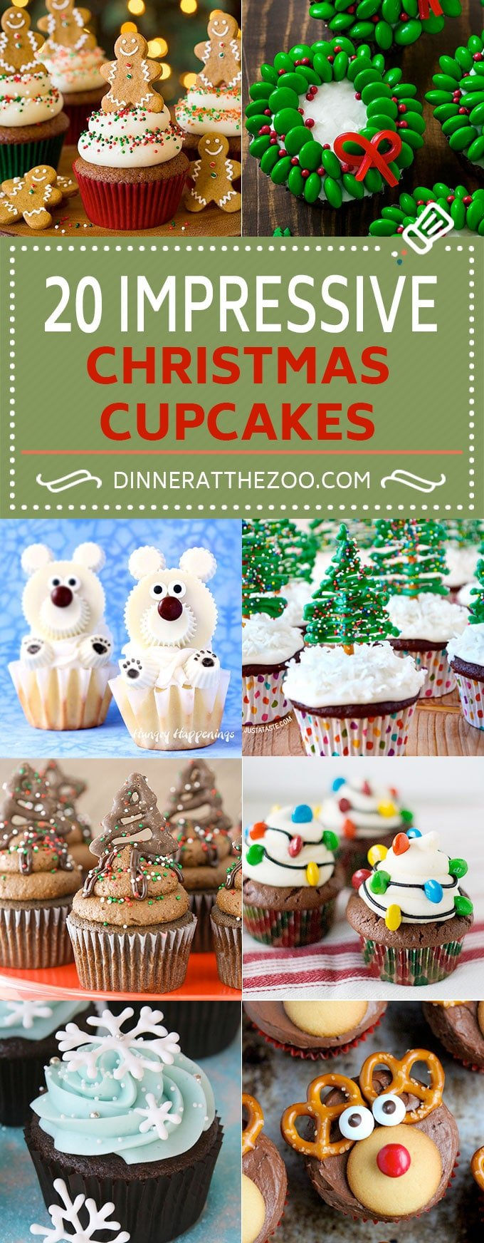 20 Impressive Christmas Cupcake Recipes | Holiday Cupcakes | Christmas Cupcakes | Holiday Baking