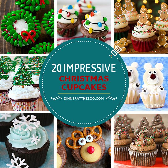 christmas cupcake recipes for the holidays - Christmas Cupcakes