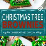 Christmas Tree Brownies | Christmas Brownies | Holiday Brownies | Christmas Tree Dessert