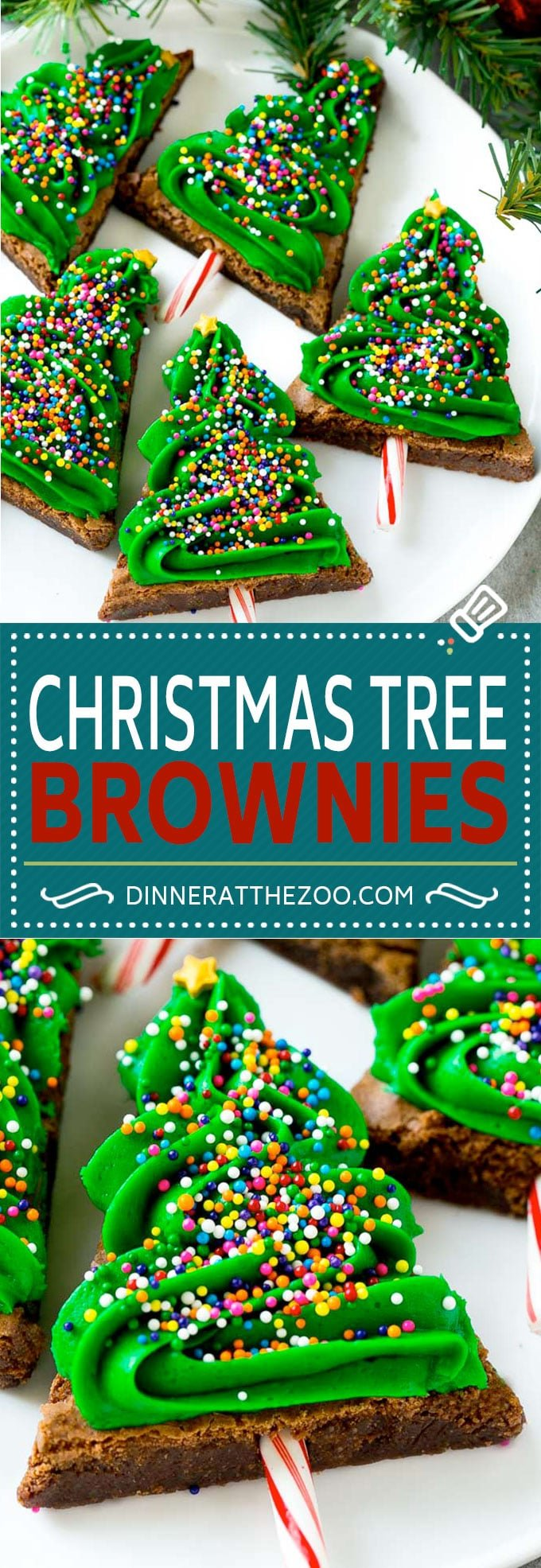 Christmas Tree Brownies | Christmas Brownies | Holiday Brownies | Christmas Tree Dessert