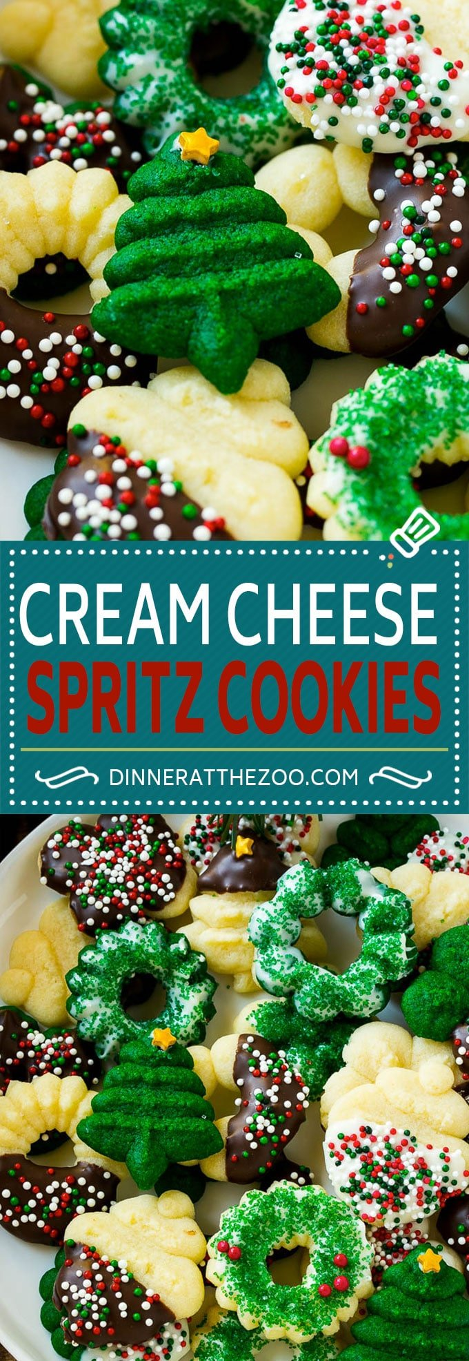 Cream Cheese Spritz Cookie Recipe | Butter Spritz Cookies | Best Spritz Cookies | Holiday Cookies | Christmas Cookies #cookies #christmas #baking #holiday #dessert #dinneratthezoo