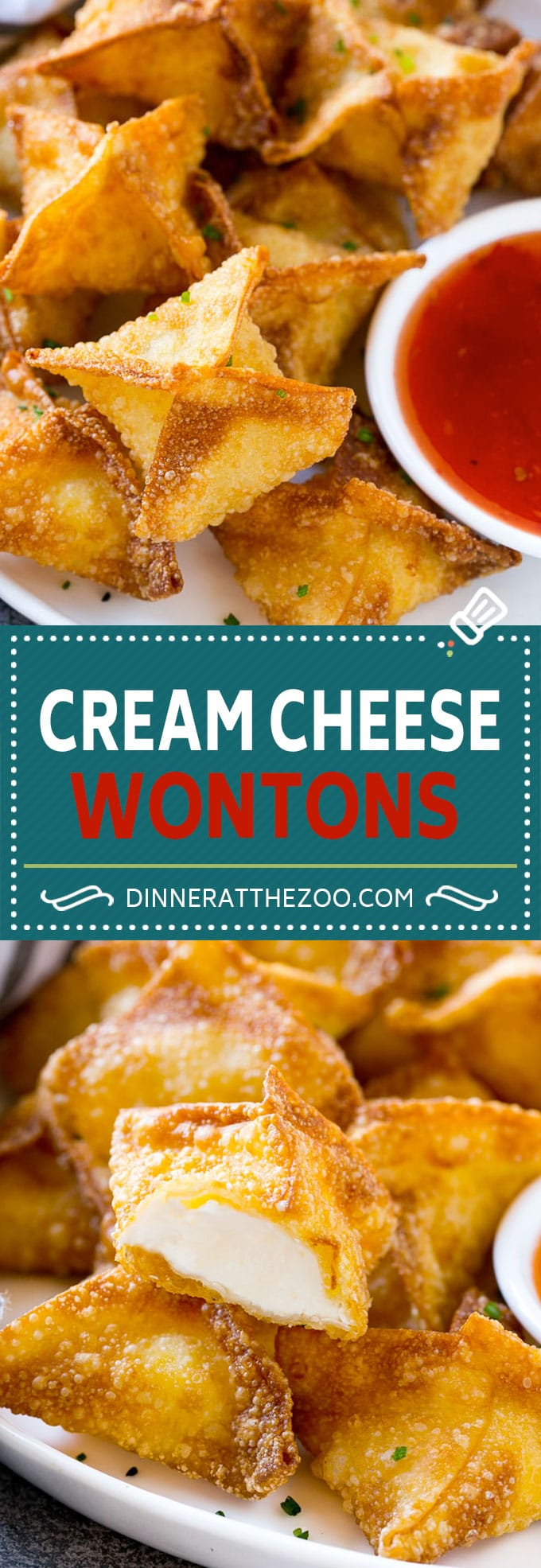 Cream Cheese Wontons Recipe | Cream Cheese Rangoon | Wonton Appetizer #creamcheese #cheese #wontons #appetizer #dinneratthezoo