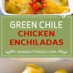 Green Chile Chicken Enchiladas Recipe | Green Enchiladas Recipe | Easy Enchiladas | Chicken Enchiladas | Chicken and Cheese Enchiladas