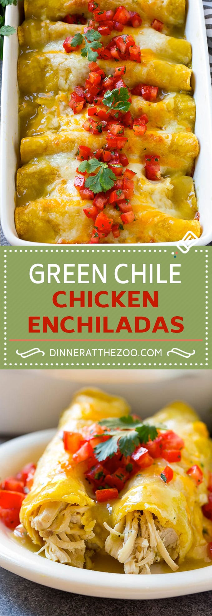 Green Chile Chicken Enchiladas Recipe | Green Enchiladas Recipe | Easy Enchiladas | Chicken Enchiladas | Chicken and Cheese Enchiladas #enchiladas #chicken #cheese #dinner #dinneratthezoo