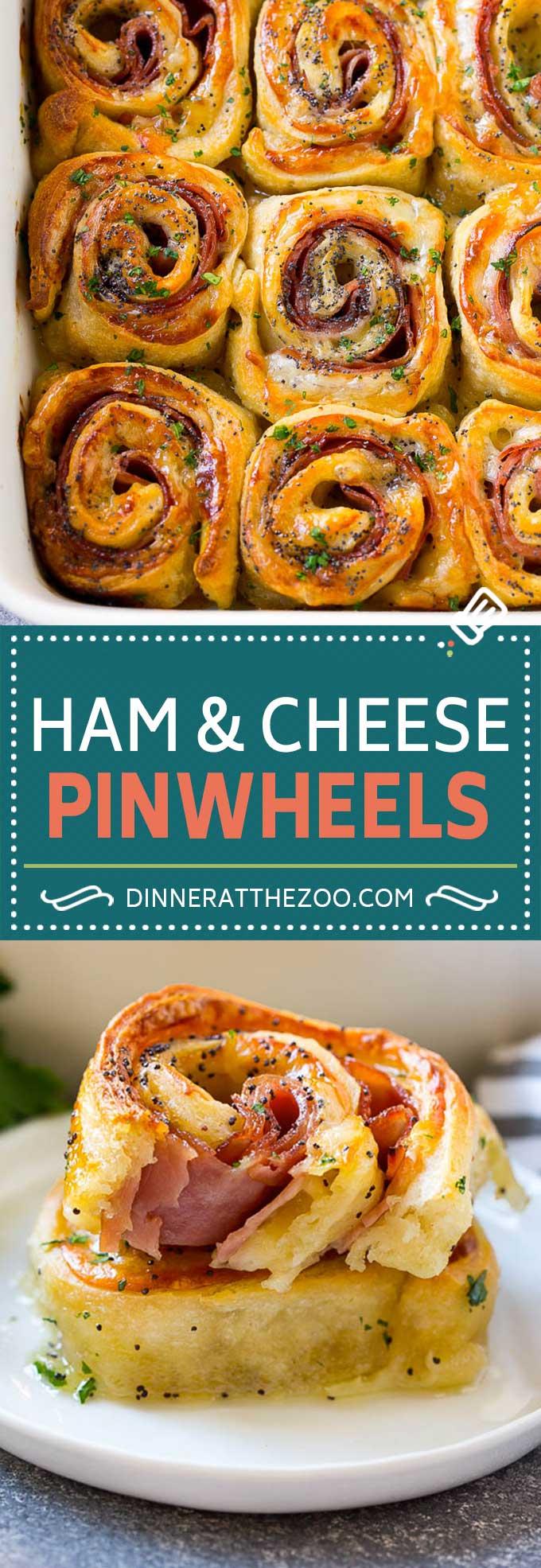 Ham and Cheese Pinwheels Recipe | Ham and Cheese Roll Ups | Ham and Cheese Rolls | Ham and Cheese Bread Rolls #ham #cheese #appetizer #pinwheels #dinneratthezoo