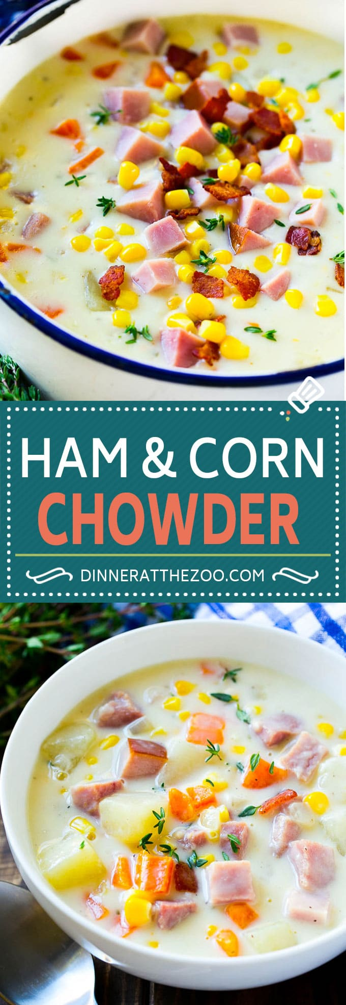 Ham and Corn Chowder | Ham Soup | Leftover Ham Recipe | Ham and Corn Soup