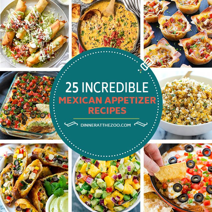 25 incredible mexican appetizer recipes dinner at the zoo from savory dips to finger foods you can not go wrong with these mexican appetizer recipes the possibilities are endless whether youre looking for a forumfinder Choice Image