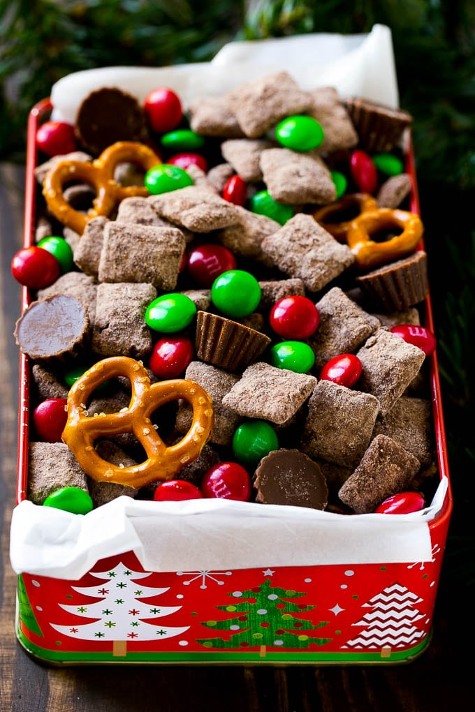 Reindeer chow dinner at the zoo christmas chex mix is filled with sweet and salty flavors perfect to serve at a forumfinder Choice Image