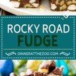 Rocky Road Fudge | Chocolate Marshmallow Fudge | Chocolate Nut Fudge | Microwave Fudge
